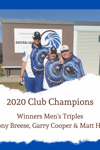 Men's Triples Winners 2020